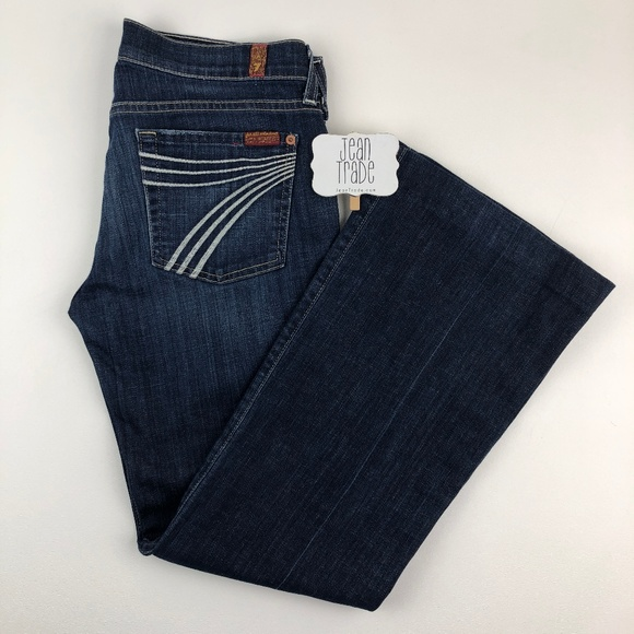 7 For All Mankind Denim - 7 for all mankind dojo flare jeans 28x28